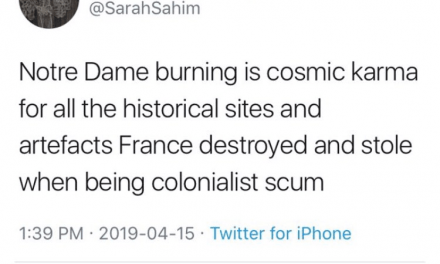 Social Media Sees Some Laughing and Mocking Notre-Dame Fire
