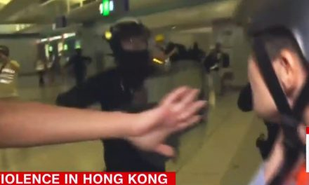 'PANDEMONIUM': Dramatic footage as CNN crew is caught between police and protesters in violent clash