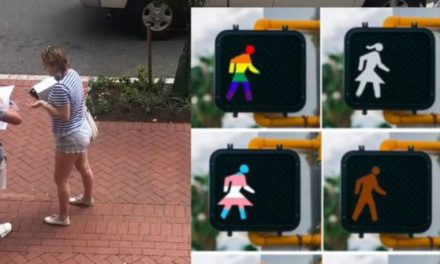 GWU Students Sign Fake Petition to Remove 'Oppressive' White Man from Crosswalk Signals | Breitbart