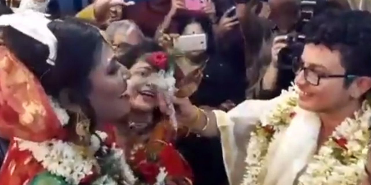 Transgender couple undergoes sex reassignments — then ties knot for what may be India's first 'rainbow wedding'