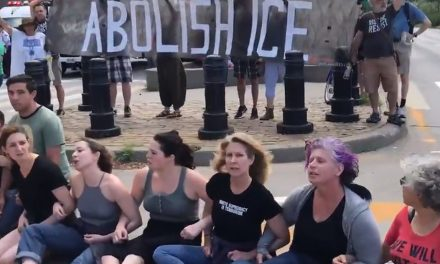 WATCH: Band of intensely white anti-ICE protesters block highway in NYC, get arrested