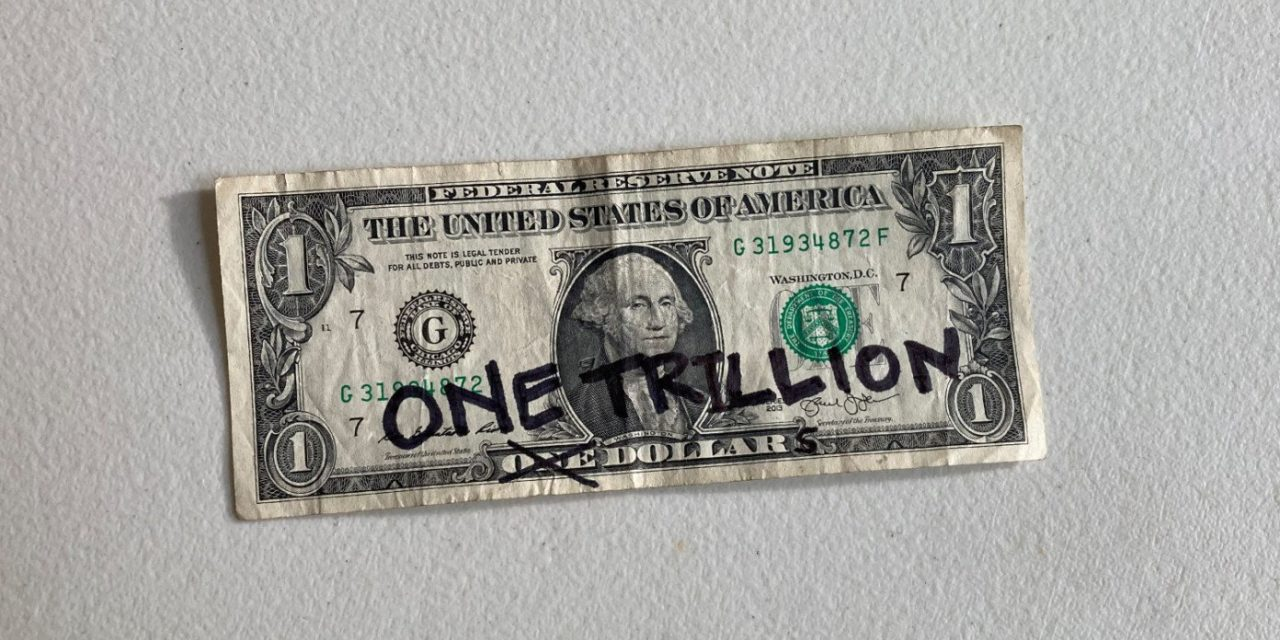 Brilliant: Biden Solves Debt Crisis By Writing 'One Trillion' On Dollar Bill With Permanent Marker