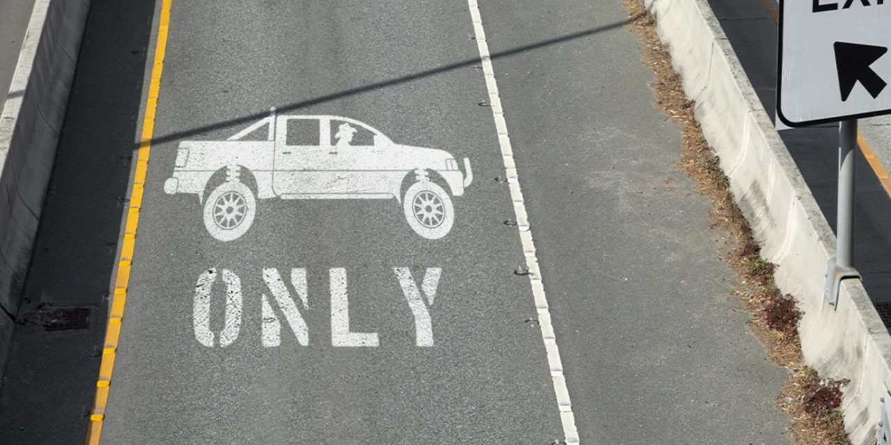 Texas Introduces Express Lanes For Guys In Cowboy Hats Driving Lifted Pickup Trucks Alone