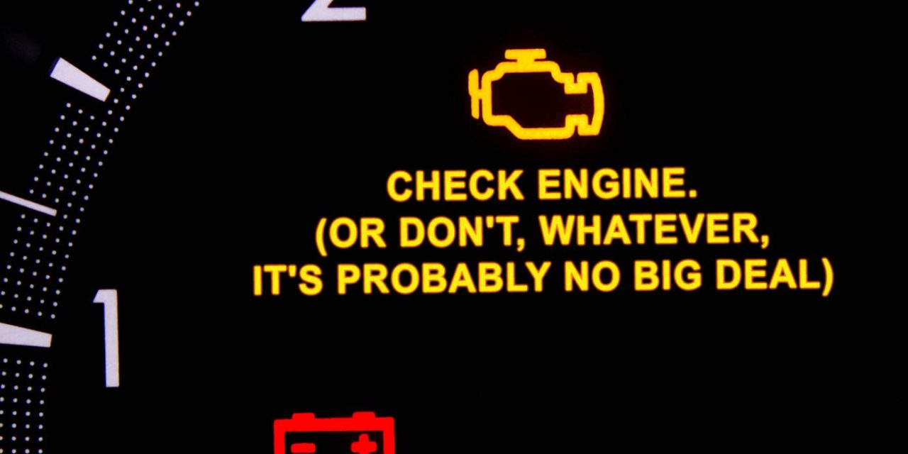 Car Manufacturers Target Women With New Warning Lights Reading 'Check Engine, Or Don't, Whatever, It's Probably No Big Deal'