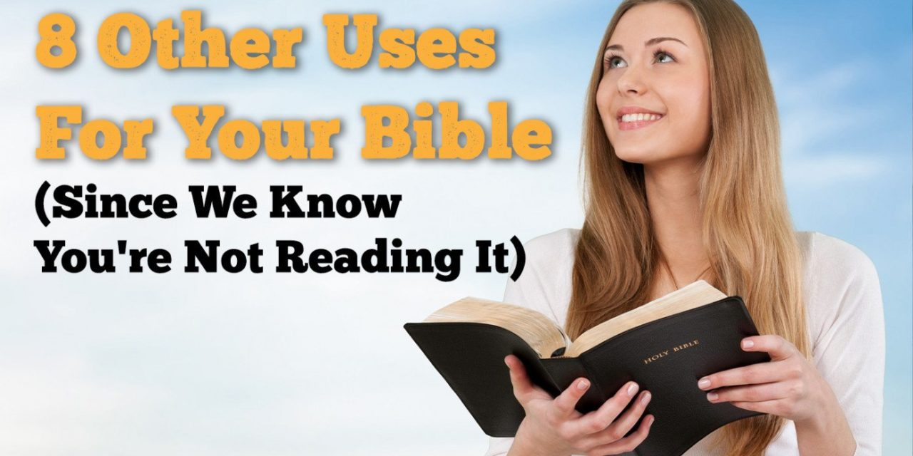 8 Other Uses For Your Bible Since We Know You're Not Reading It, You Sinner